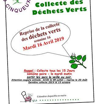 Collecte Déchets Vert 2019