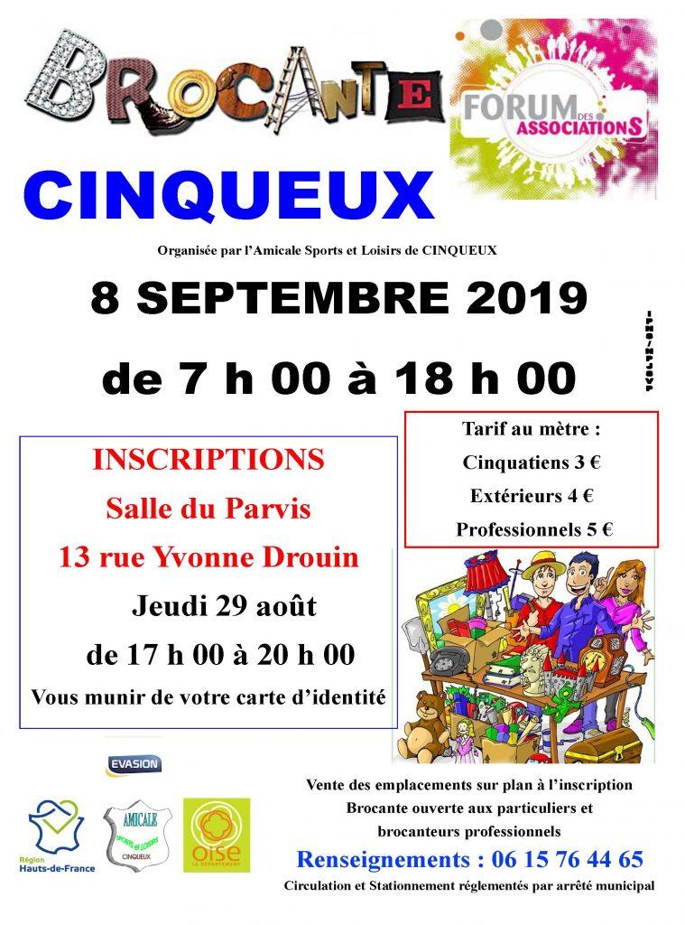 Brocante 8 septembre 2019 Cinqueux